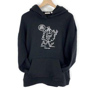 Aritzia Tna Black Kevin Lyon Monster Sweatshirt
